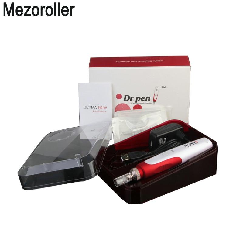 Derma Pen Rechargeable Dr. Pen N2-W Wireless Auto Microneedle Pen Bayonet Prot Needle Cartridges Pen Electric Derma Stamp