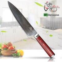 HAOYE 8 inch chef knife Japanese VG10 Damascus steel Multipurpose kitchen knives sushi Samura Restaurant slicer fashion gift NEW