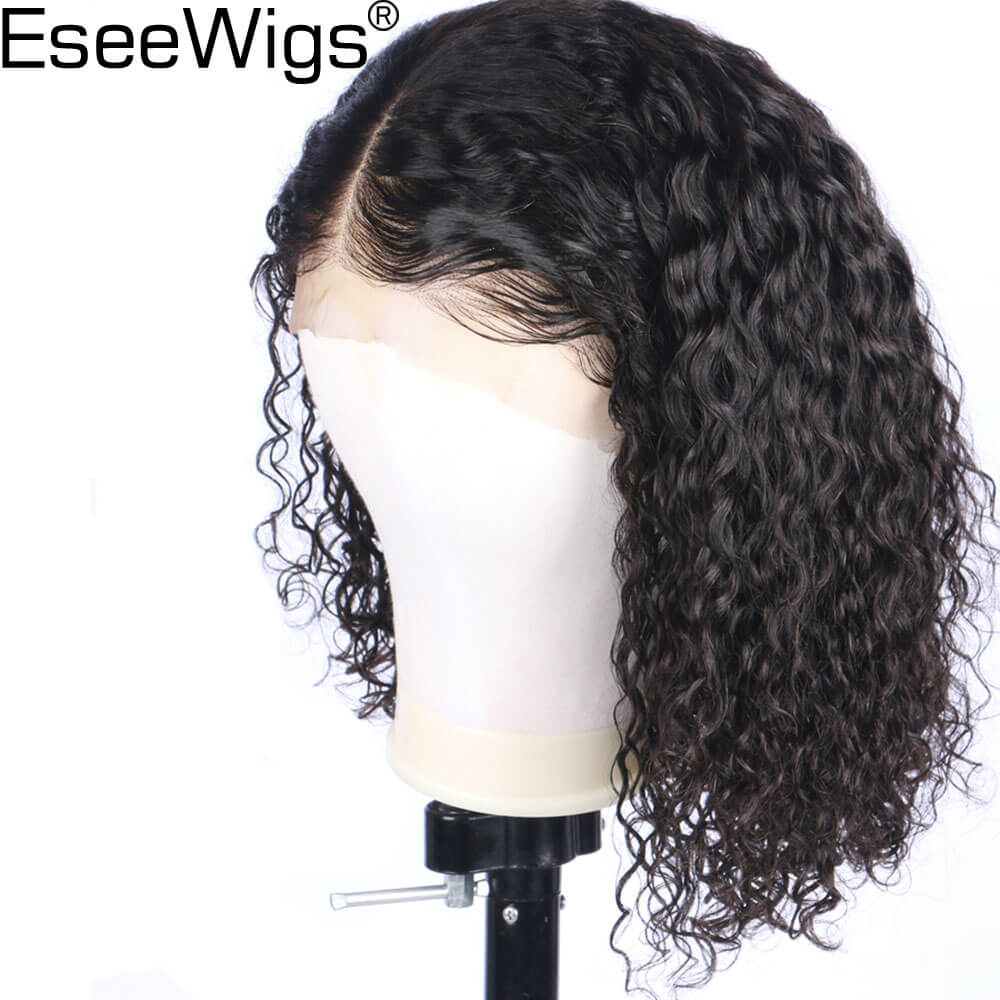 100% Quality Eseewigs 13x6 Lace Front Human Hair Wigs Deep Middle Parting Brazilian Curly Remy Hair Lace Wig Pre Plucked Natural Hair Line Hair Extensions & Wigs
