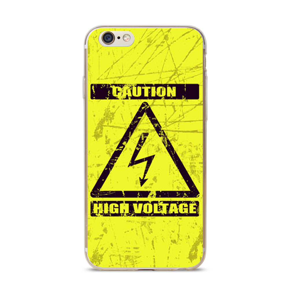 Soft Tpu Silicone Gel Hazard Symbol Protective Designs Case Cover