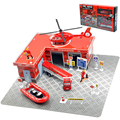 Classic toys Fire truck series block Car Boat Helicopter blocks model Vehicles toys Alloy Diecast fire fighting truck Boy toys