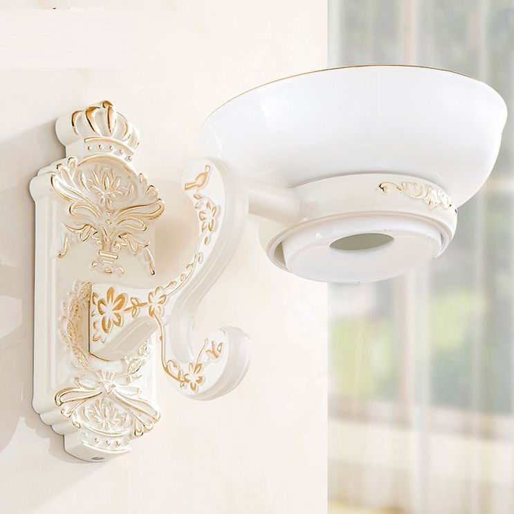 Free shipping wall mounted ivory white soap dishes - Wall mounted ceramic bathroom accessories ...