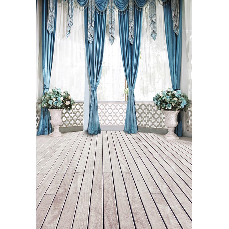 Custom vinyl cloth 3 D luxury curtains hall wood floor photo studio background for wedding kids photography backdrops CM-7176 200 300cm wedding background photography custom vinyl backdrops for studio digital printed wedding photo props
