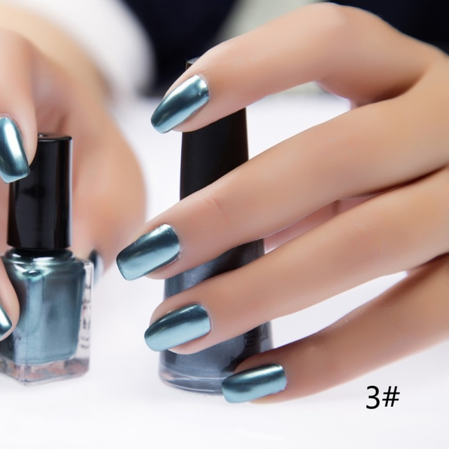 Mode Zomer Diy Nail Art 6 Ml Metallic Nagellak Spiegel Olie Gel