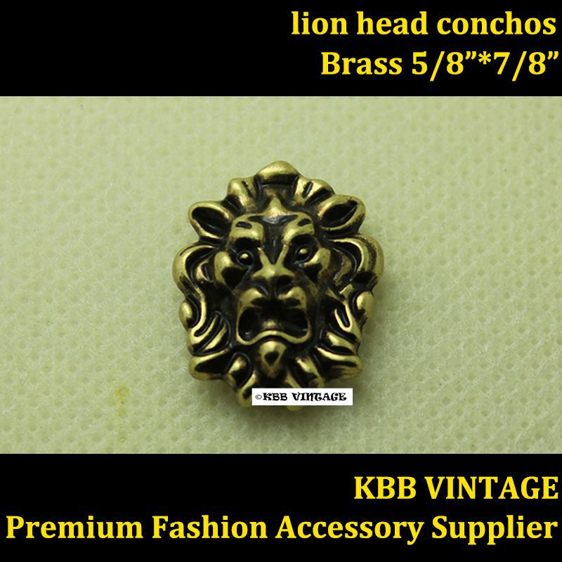 Wholesale 50pc Small Lion Head Conchos Screwback Conchos Leathercraft Antique Bronze