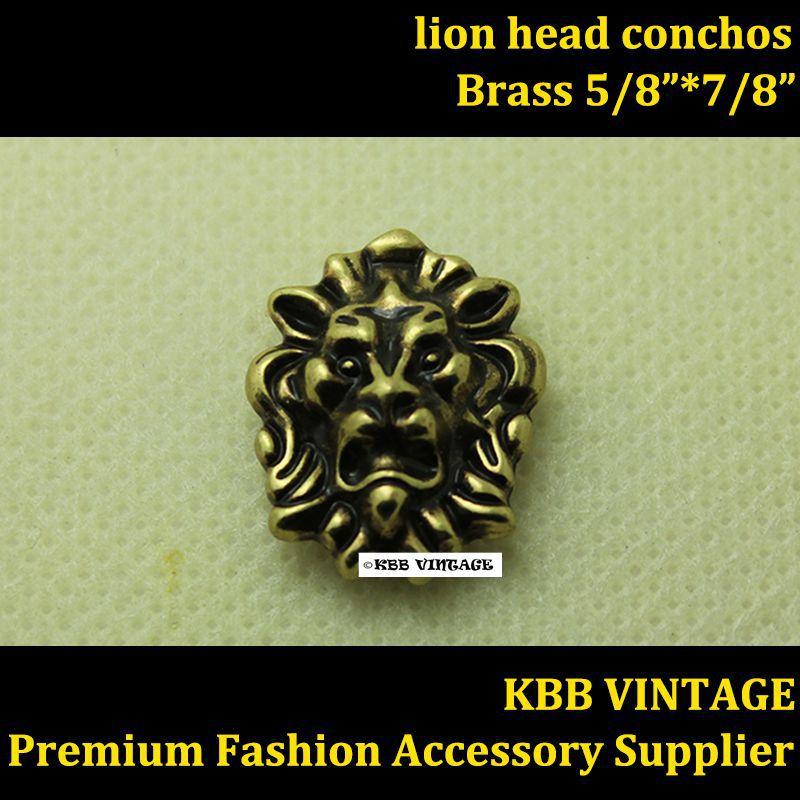 Groothandel 50 st Kleine Leeuw Head Conchos Screwback Conchos Leathercraft Antiek Brons-in Knopen van Huis & Tuin op  Groep 1