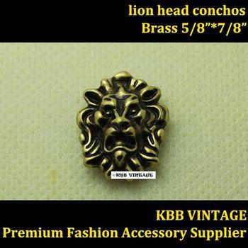 Wholesale 50pc Small Lion-Head Conchos Screwback Conchos Leathercraft Antique-Bronze