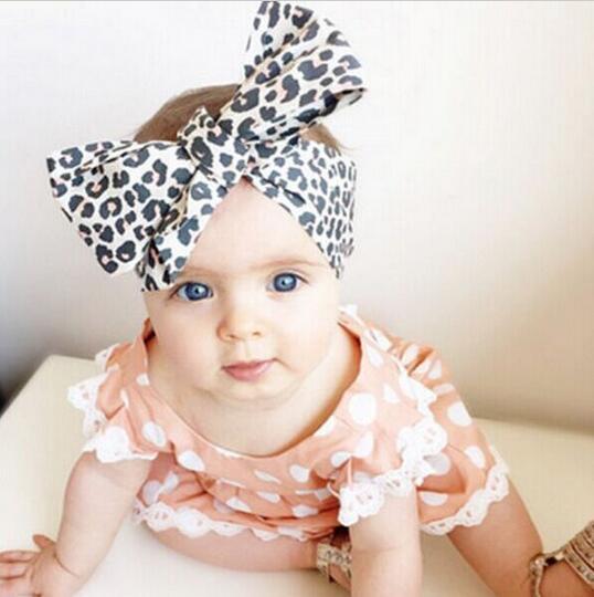 6PC Leopard Kid Girl Baby Toddler Bow Headband HairBand Accessorie Headwear Head