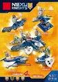 Nexus caballeros caliente 4in1 combatiente aaron lance rey bloque de arcilla ladrillos carro compatible legoeinglys. ladrillos juguetes para niños