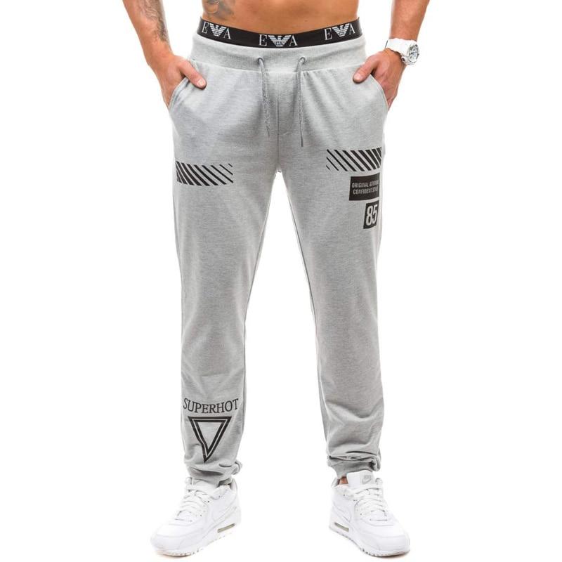 2017 New Sweat Pants Men Joggers Pants Elastic Waist Loose Sweat Pants For letters Printed Men Casual Trousers homme