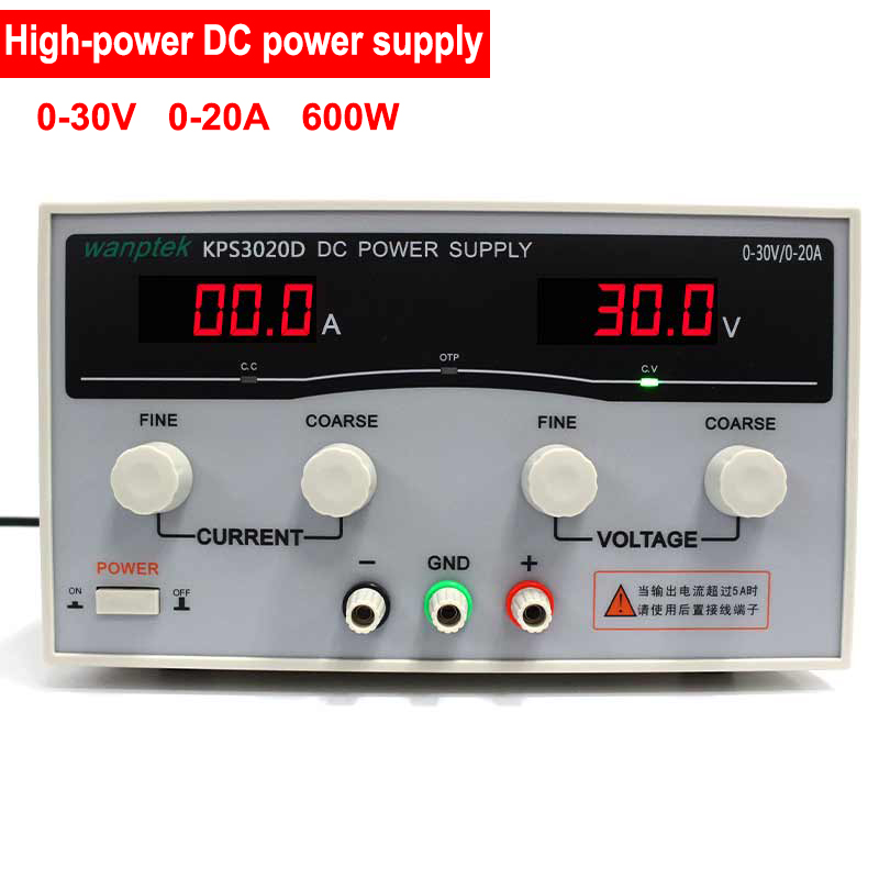 600W High Power high precision Adjustable Digital DC Power Supply 30V/20A for scientific research Laboratory kps3020d high precision adjustable digital dc power supply 30v 20a for scientific research laboratory switch dc power supply
