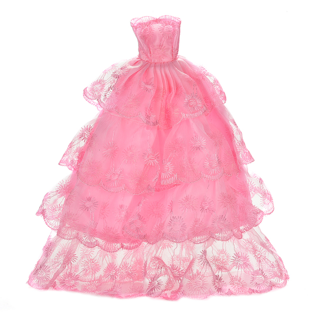 New 1Pcs Pink Color Fashion Handmake Wedding Gown Dress Clothing For ...