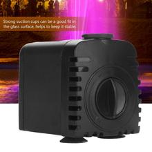 220V-240V Ultra-Quiet Submersible Water Pump with LED Light Fish Pond Aquarium Tank Fountain Water Submersible Pump 15w submersible water pump with led light for garden aquarium fish tank pond fountain pump