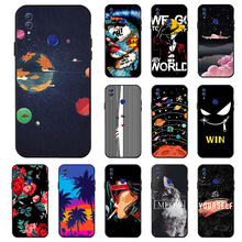 Ojeleye Fashion Black Silicon Case For Huawei Honor Note 10 Cases Anti-knock Phone Cover Covers