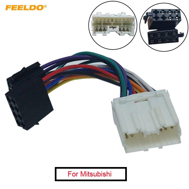Adaptador de tomada de conversão estéreo para carro, adaptador para mitsubishi to iso cd, rádio, fiação, unidades originais, cabo