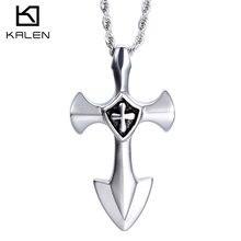 2016 joyería kalen nuevo unique barato clásico de acero inoxidable 316l tribal cross anchor collares pendientes para los hombres al por mayor de regalos