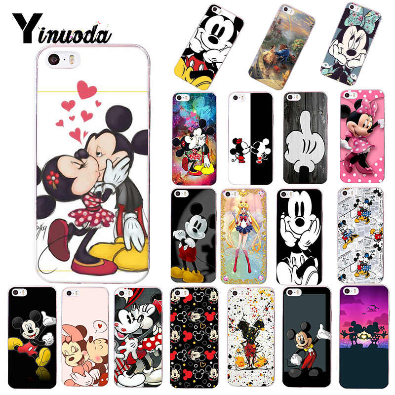Yinuoda Beauty Beast Bishoujo Kissing Mickey Minnie Mouse phone case for Apple iPhone 8 plus X XS MAX  XR 5s 5c 6s plus 7 cover