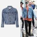 2017 мужчины джинсовая куртка пальто Страх божий Kanye West Yeezy мужчины Хип-Хоп Бренд Clothing Gd Пальто Джастин Бибер Жан Denim куртка