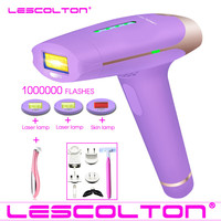 1000000 times Lescolton depiladora Laser Hair Removal Machine Laser Epilator Hair Removal Bikini Trimmer Electric epilator women