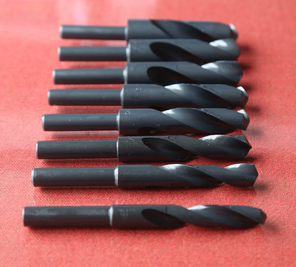 Free shipping of 8pcs/set HSS 4241 made 1/2 shank HSS twist Drill Bit 9/16'',5/8'',11/16'',3/4'',13/16'',7/8'',15/16',1'' free shipping 1pc hss 6542 made cnc full grinded hss taper shank twist drill bit 17 5mm 228mm for steel