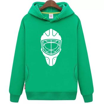 Fajne hokej na lodzie darmowa wysyłka tanie młodzieży zielony hokej na lodzie bluza z kapturem z hokeja na lodzie wzór maski tanie i dobre opinie Chłopcy Flexible Pasuje mniejszy niż zwykle proszę sprawdzić ten sklep jest dobór informacji cool hockey