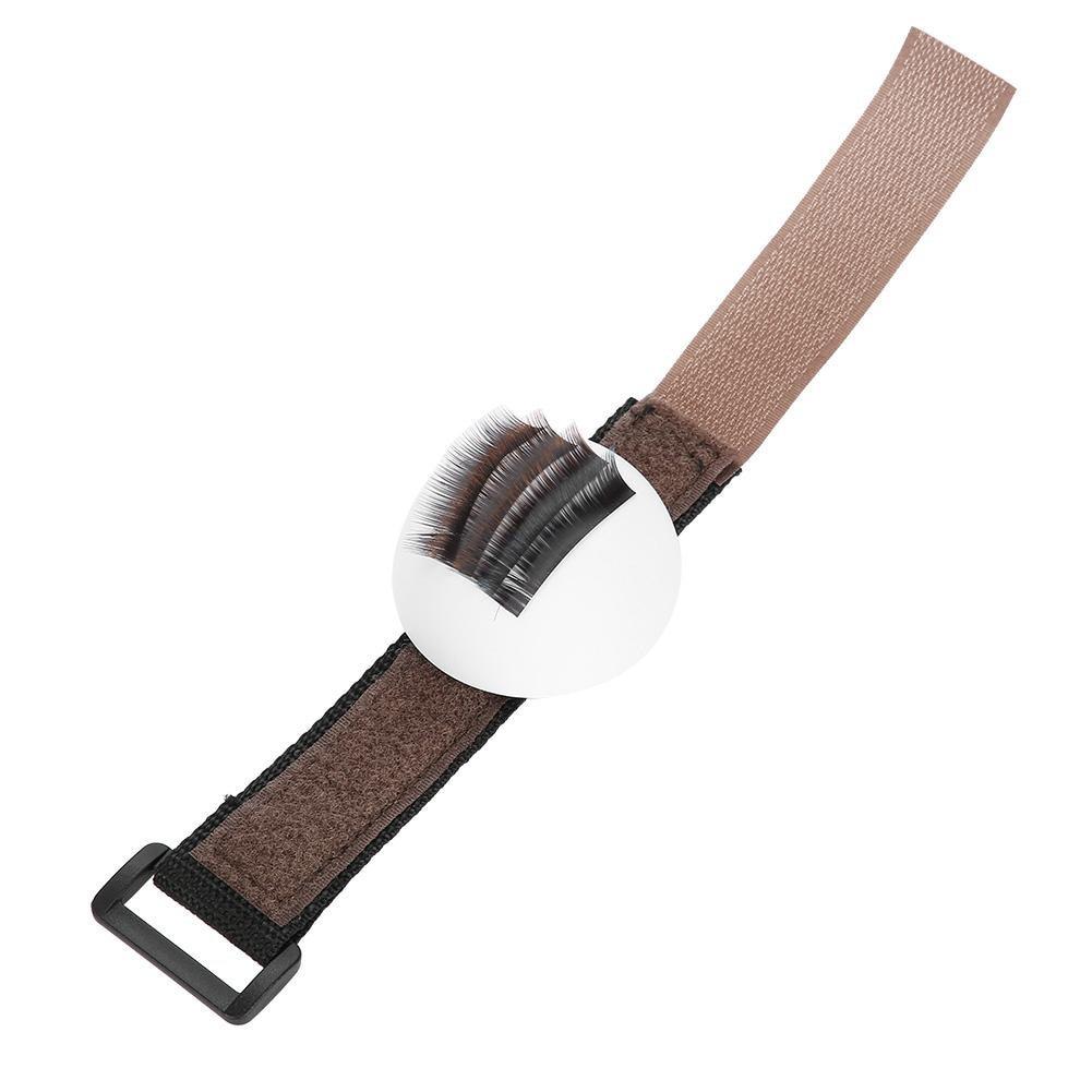 Volume Makeup Lash Bubble Extension Individual Pallet Holder Adhensive With Strap Eyelash Stand Grafting Tool Semi Permanent Bug