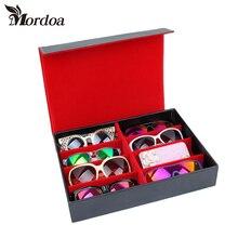 2017 Mordoa High quality Glasses Storage Field eight Slot Sun shades Show Field Sunglass Organizer Field Eyewear Storage Utilization
