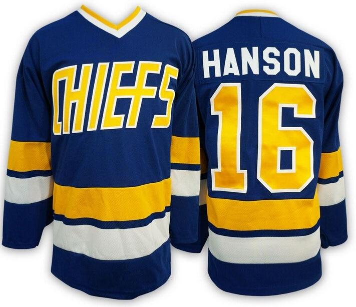Prix pour Hockey Sur glace Jersey Vintage Jack Hanson 16 Charlestown Chiefs Hockey Jersey Meilleur pour L'hiver Glace Sport Wear Gros Dropship