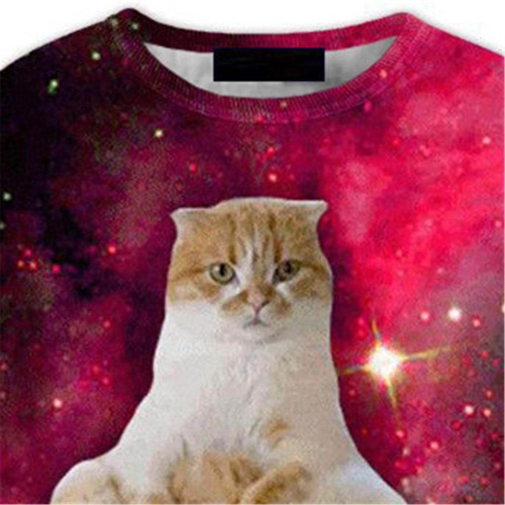 Red Starry Sky Pullover Men 3d Printed Sweatshirt Cute Cat Tide Boy Harajuku StreetWear Punk Rock Style Male Fitness Tracksuits