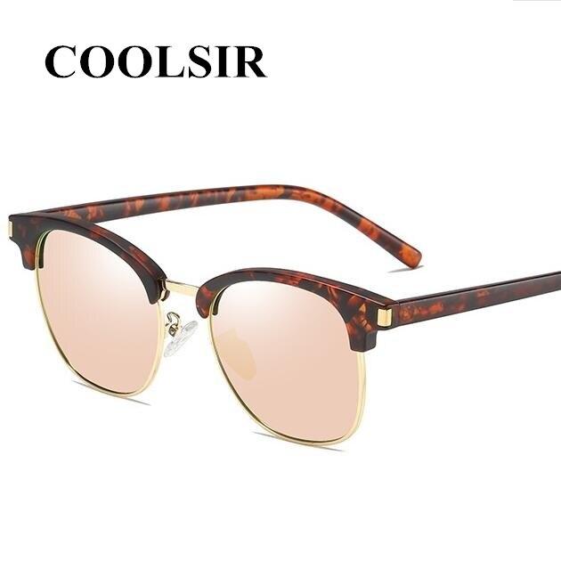 COOLSIR Cool Men Women Designer Rcustom Myopia Polarized Sunglasses Retro Fashion Square Mirror Driving UV400