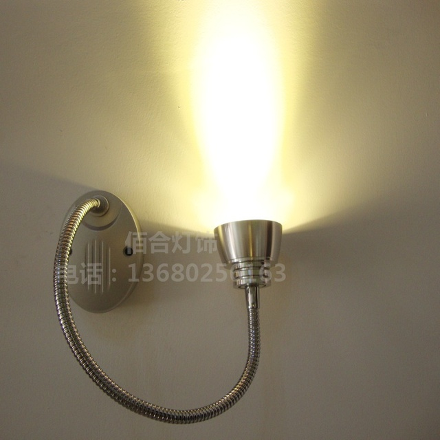 NEW 3W led spotlights Wall Mounted hose backdrop painting elbow snake tube light clothing shop front mirror bedside lamp illumin