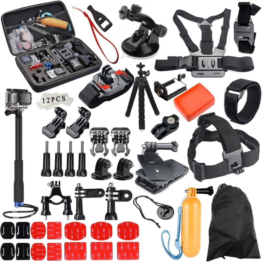 Selfie stick for Gopro Accessories set for go pro hero 6 5 4 3 kit mount for SJCAM for SJ4000 / for xiaomi for yi 4k for eken h9
