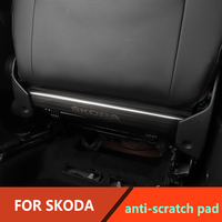 For Skoda Octavia Oodiaq Karoq Superb Interior Rear Seat anti kick plat stainless steel decoration trim 2pcs