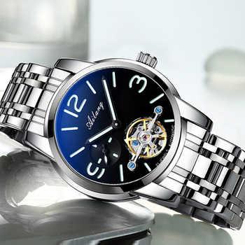 AILANG original watch top luxury men\'s automatic mechanical watch hollow gear sports waterproof watch leather business men\'s