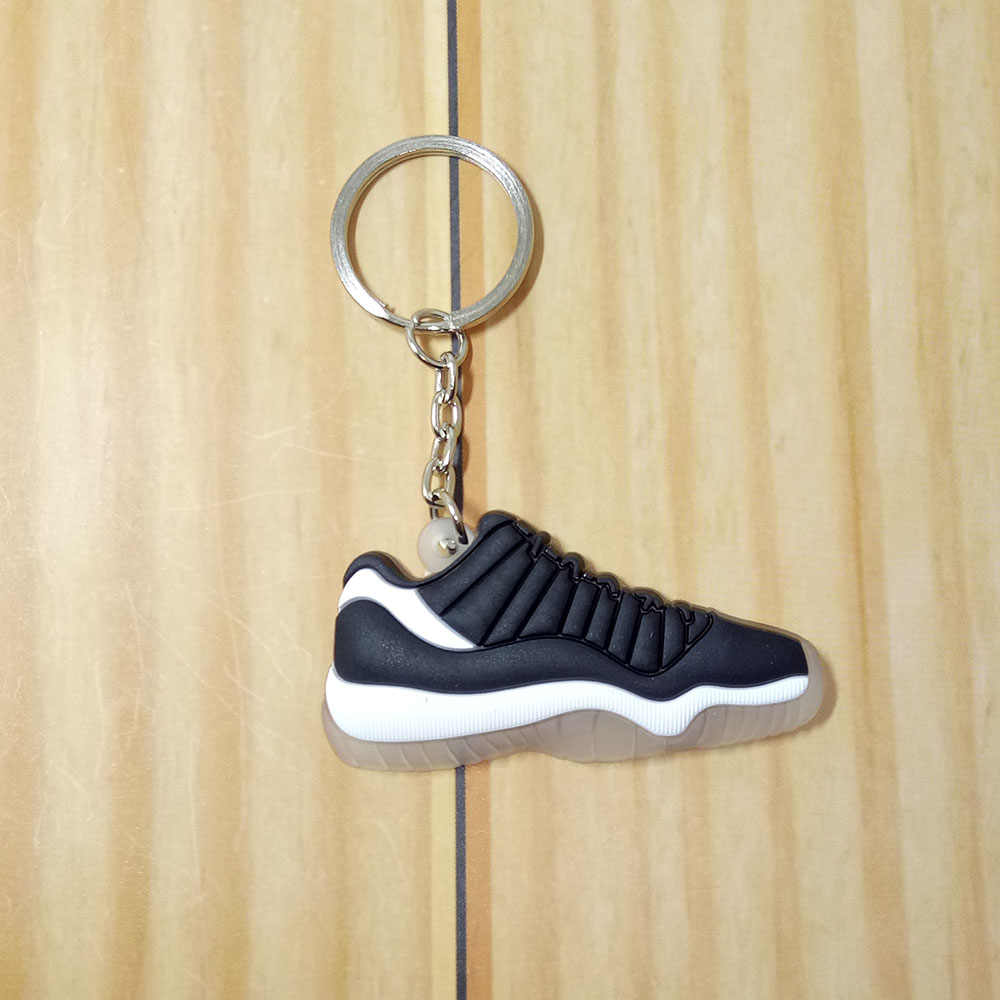Mini Silicone Jordan 11 Homens Mulher Kids Presentes Chave Anel Keychain Bolsa Charme Acessórios Pingente de Chave Titular Chave Sapatos Sneaker chai
