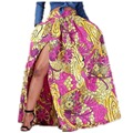 2016 New Hot Sell Summer Women Sexy Dashiki  African Print Skirt African Style with Side Split Vintage Maxi Skirts Free Shippin