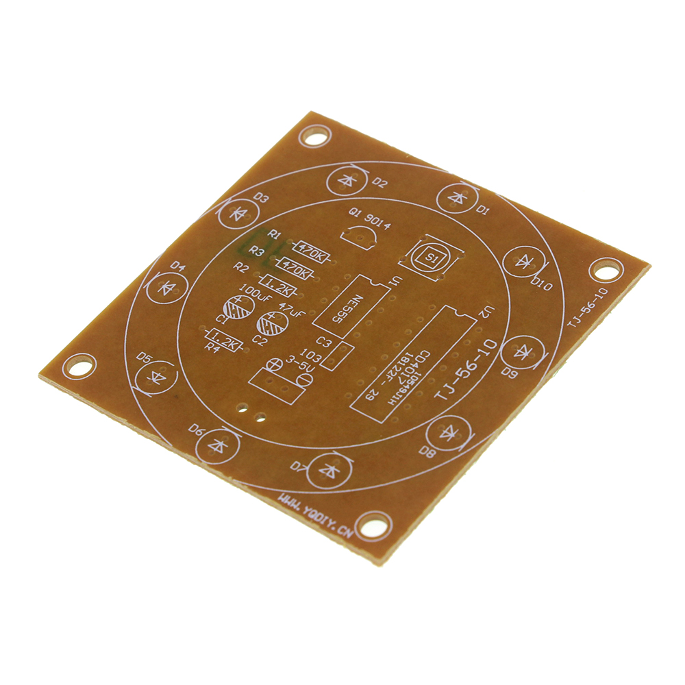 Round Lucky Rotary Suite Electronic Component Fortune Cd4017 Ne555 Random Number With Interesting Diy Kit Wheel Parts In Integrated Circuits From