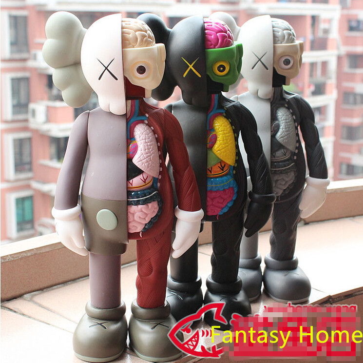 Kaws Action Figure Original Fake Companion 16 Inch Kaws 3 Color Action Figure Resin Toy Doll With Box Free Shipping fashion toys new kaws original fake joe kaws dog medicom toy gift for boyfriend kaws original fake