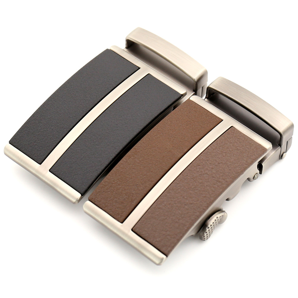 2019 Men's Leather Belt Buckle Fashion Genuine Leather Business Dress Belt Automatic Buckle For Men Black Brown 3.5cm CE25-1242