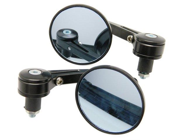 Bar End Spiegels : Set zwarte cnc bar end spiegels u motozorg webstore