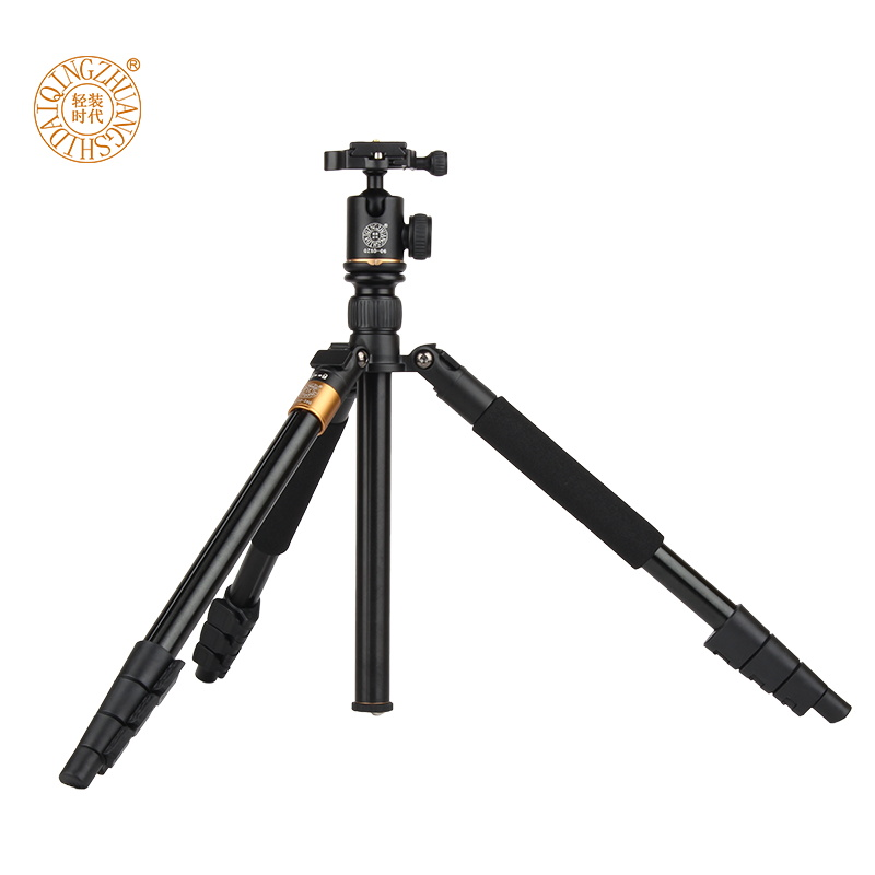 Moveski Q580 57inch Professional Portable Travel Tripod Monopod with Ball Head Photography Tripod Stand For DSLR Camera Load 6kg new professional portable aluminum tripod for dslr camera camcorder travel tripod stand removable monopod with ball head