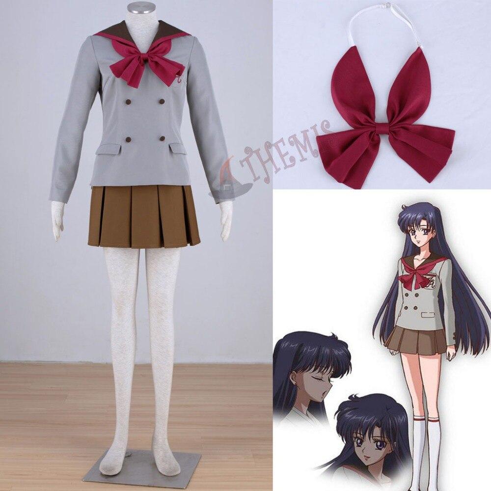 Sailor Moon Hino Rei Sailor Mars Women Cosplay Costume Girl School Uniform