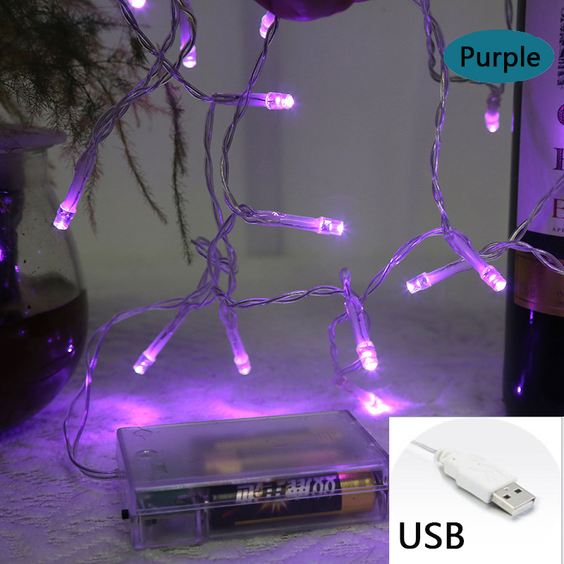 1M10 Copper Wire LED String Lights Waterproof Holiday LED Strip Lighting For Fairy Christmas Tree Wedding Party Decoration Lamp