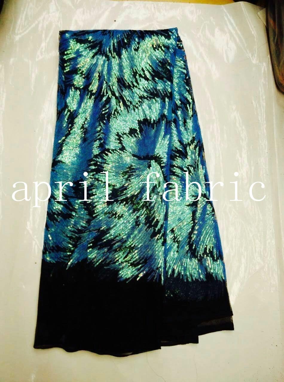 Embriodery hh010 3 opção cor de lantejoulas africano tecido de malha preto para serrar/vestido da senhora