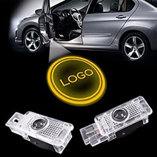 For 2pcs New Car Styling LED Badge Pleasant of Door Laser Shot of Light for Mercedes-Benz E Class W211 Mecedes W124, W201, W202,