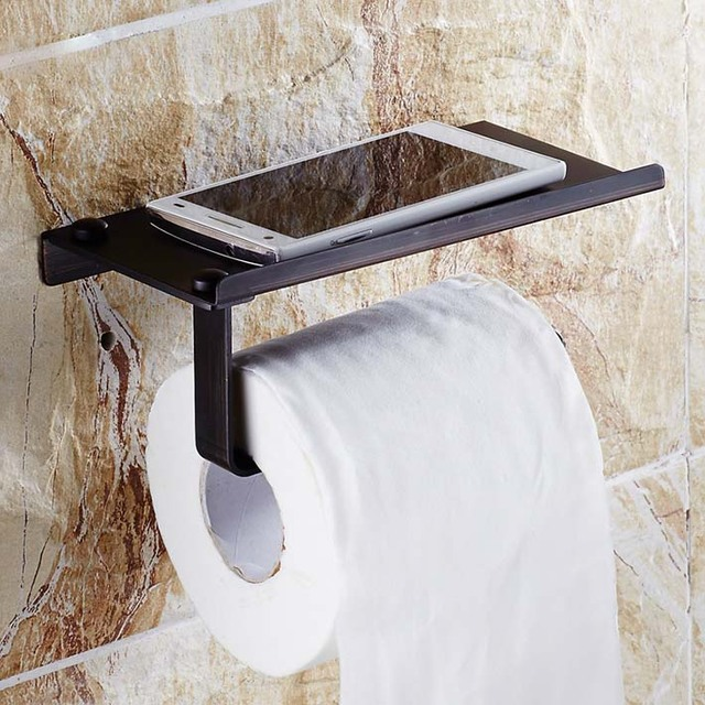 Creative Multifunction Oil Rubbed Bronze Bathroom Toilet Roll Paper