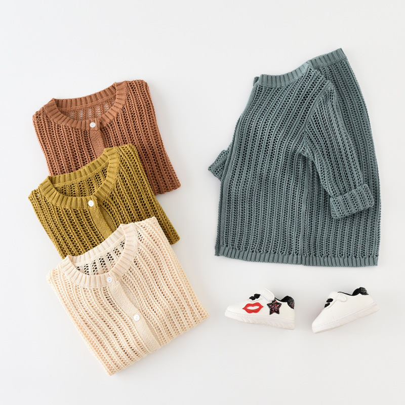 Babyinstar Boutique Children Clothing Girls Outerwear Hollow Sweather Girls Knitted Sweaters Girls Pullovers image