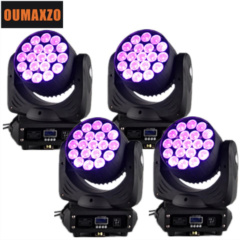 19pcs 12w rgbw 4in1 LED Moving Head light with zoom ZOOM Led Moving Head Wash disco 19pcs 15w rgbw 4in1 led moving head