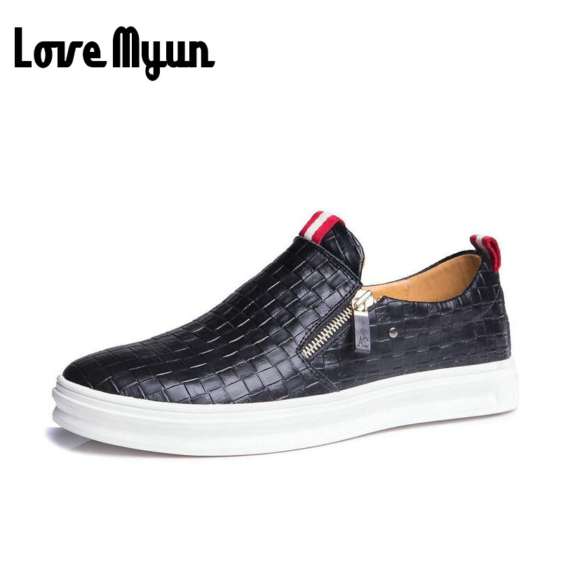 Big size 46 47 fashion men genuine leather shoes slip on zipper casual shoes for young mens breathable retro loafers AE-05 big size 46 summer breathable mesh loafers men casual shoes genuine leather slip on brand fashion flat shoes soft comfort cool