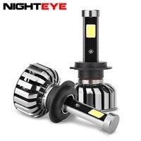 N7 12V Car LED COB Headlight Kit 6000K 4000Lm Equivilant Bulb H4 HB1 H13 Latest COB